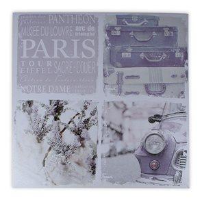 Obraz Paris fialová 70 × 70 × 2,5 cm