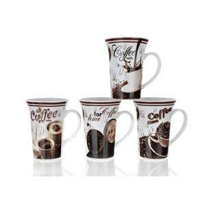 Hrnek Kávová kompozice vysoký 390 ml