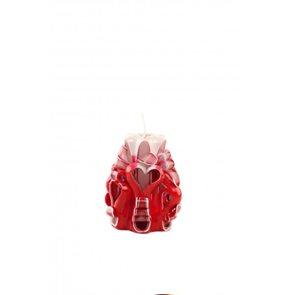 Svíčka Valentýnské srdce červená 10 cm