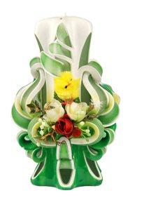 Velikonoční svíčka 15 cm zelená