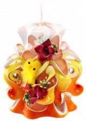 Velikonoční svíčka 10 cm oranžová