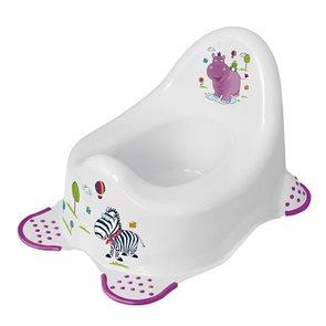 Dětský nočník OKT Hippo s protiskluzem bílý