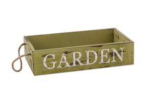 Dřevěná přepravka Garden zelená