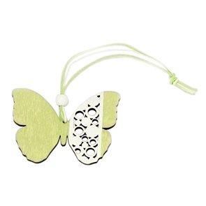 Dřevěný motýl zelený