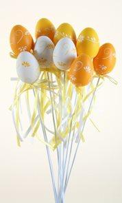 Zápich Vajíčko oranž/bílá