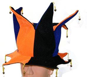 Karnevalová čepice s rolničkama pro dospělé.