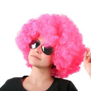 Afro paruka růžová