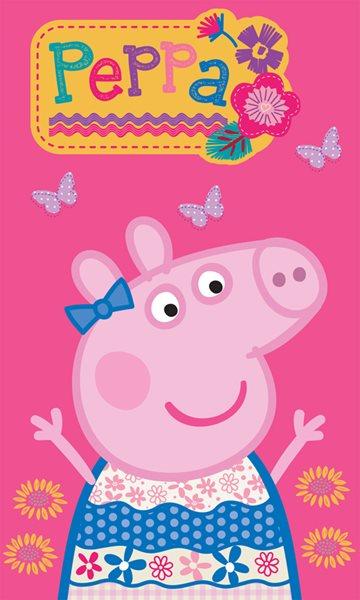 Dětský ručník Prasátko Peppa - Pink 30 x 50 cm