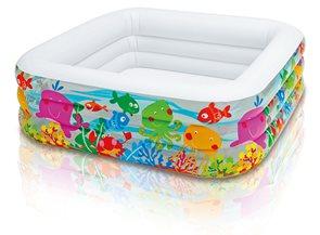 Nafukovací bazén akvárium 159x159x50 cm