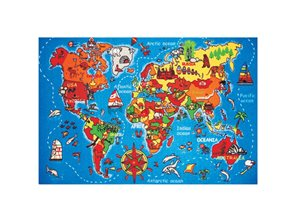 Dětský koberec Mapa světa 100 x 150 cm
