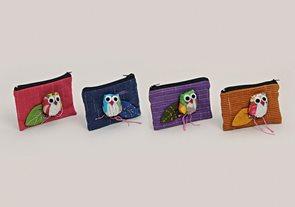 Textilní peněženka Sova