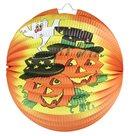 Lampion Halloween Koule oranžový, 25 cm