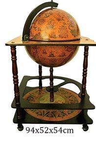 Dřevěný bar Globus Galileo