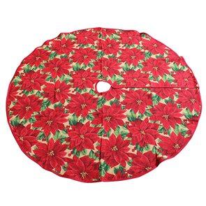 Gobelínová podložka pod vánoční stromek Poinsettia