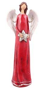 Červený anděl s hvězdou