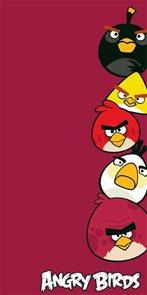 Osuška Angry Birds bordo froté 75x150 cm