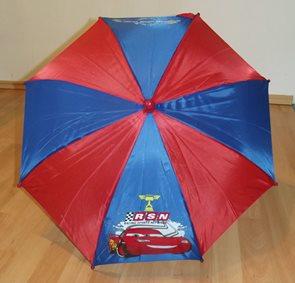 Dětský dešník Cars modročervený 65 cm