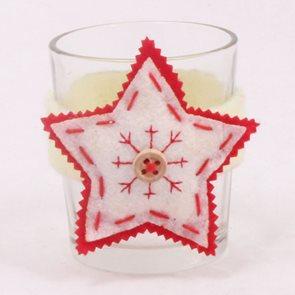 Svícen s hvězdou bílý