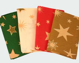 Vánoční ubrus Hvězdy - různé barvy