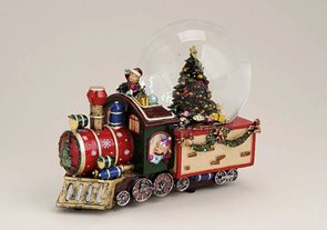 Vánoční sněžítko s hudbou Mašinfíra