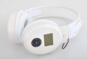Bezdrátové sluchátka s MP3 přehrávačem černé