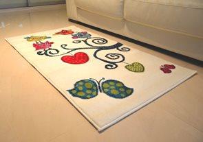 Dětský koberec Kids 420 white 80 x 150 cm