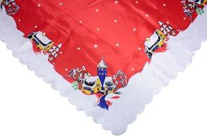 Vánoční ubrus červený 80 x 80
