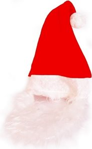 Čepice vánoční s vousy