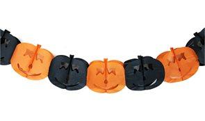 Girlanda papírová Halloween s dýní, 4 m
