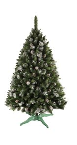Umělý vánoční stromek Borovice stříbrný brokát 180 cm