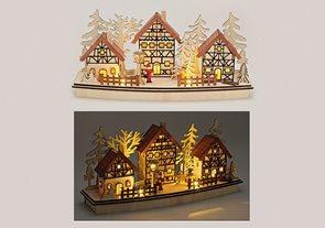 Zimní vesnice Hrázděné domky