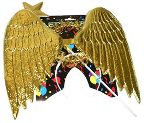 Křídla andělská plastová + svatozář