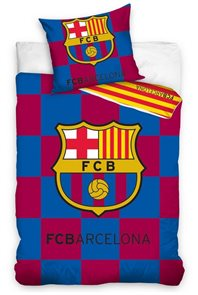 Povlečení FC Barcelona Check 140 x 200 cm