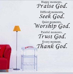 Dekorativní nálepka Praise God