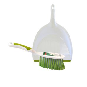 Souprava smetáček s lopatkou zelená