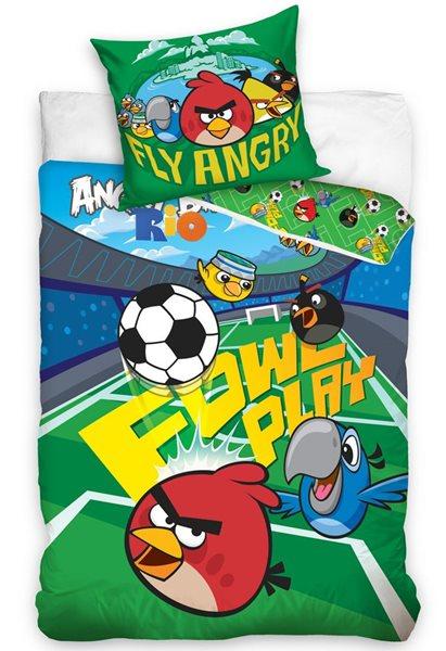 Bavlněné povlečení Angry Birds Stadion - 140x200 70x80cm