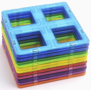 Magformers - Mřížky (12 ks) - Magnetiská stavebnice