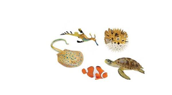 Sada zvířátek z mořského útesu (5 ks)