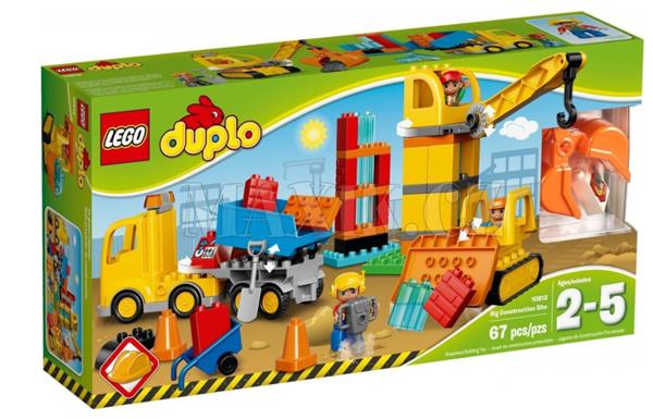 LEGO DUPLO 10813 Velká městská stavba, 2 - 5 let, Doprava zdarma