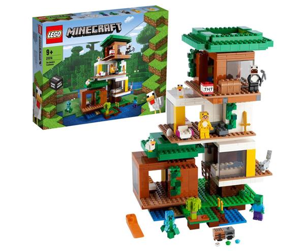 LEGO Minecraft 21174 Moderní dům na stromě
