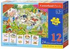 Puzzle Farma 12 dílků a 24 puzzlí do páru