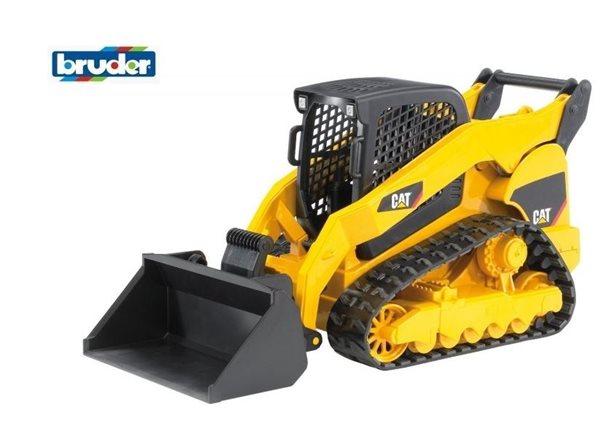 Konstrukční vozy - CAT kompaktní pásový bagr s předním nakladačem 1:16 BRUDER