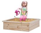 Pískoviště přírodní dřevo, k sezení 80×80 cm