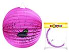 Lampion koule 25 cm fialový s pavoukem Halloween