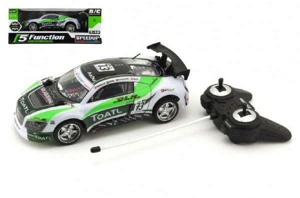 Plastové zrychlující auto RC na baterie (zelené)
