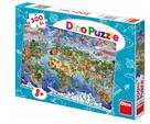 Puzzle Mapa světa ilustrovaná 300 dílků XL, 47×33cm