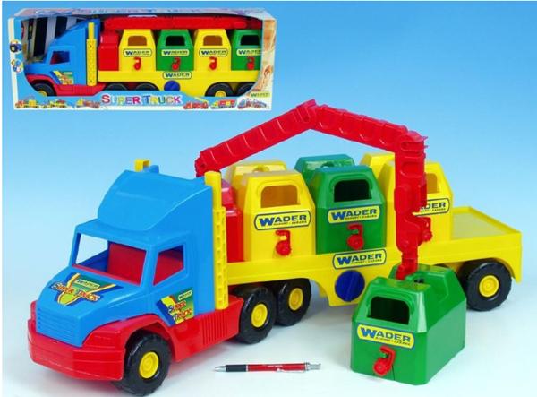 Auto Super Truck popeláři plast 75cm Wader