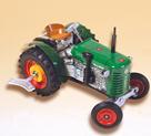Traktor ZETOR 25A zelený Kovap, konový 15cm na klíček