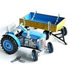 Traktor ZETOR s valníkem modrý Kovap, kovový 28 cm na klíček