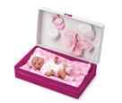 Panenka miminko vonící 26cm pevné tělo s doplňky v krabici